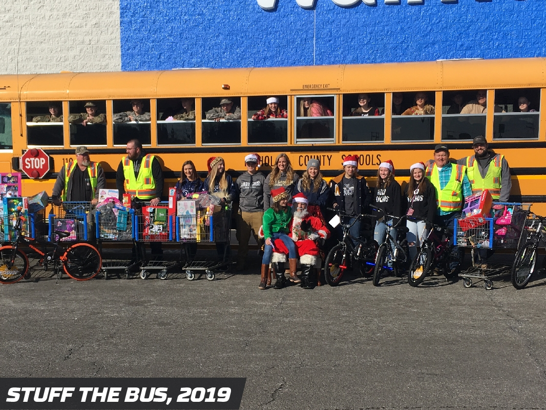 Precision Pipeline Community Involvement: Fierce Freedom Stuff the Bus 2019